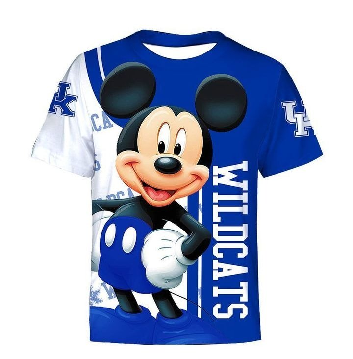 Mickey mouse kentucky wildcats all over printed tshirt