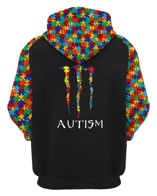 Monster energy autism awareness all over printed hoodie 1