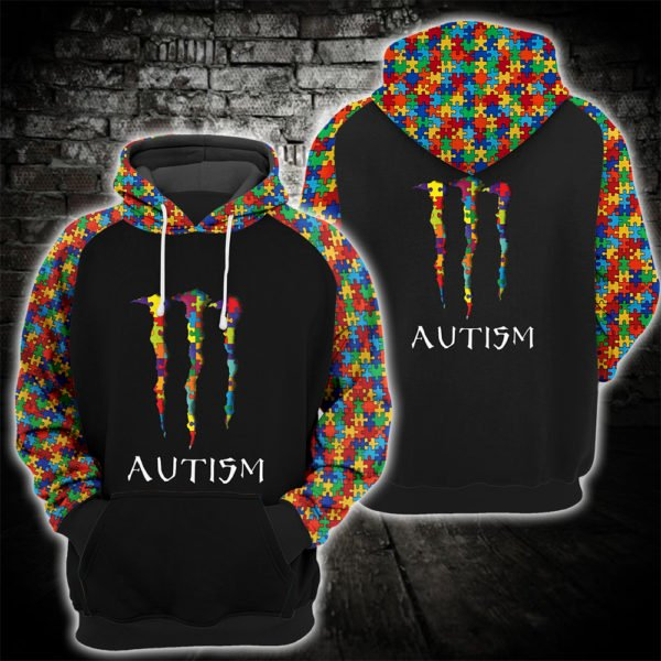 Monster energy autism awareness all over printed hoodie