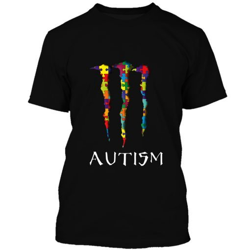 Monster energy autism awareness all over printed tshirt