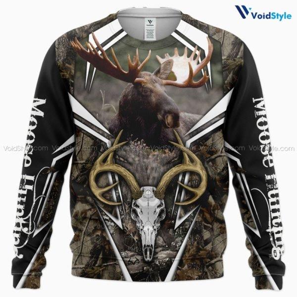 Moose hunting hunt season 3d all over printed sweatshirt
