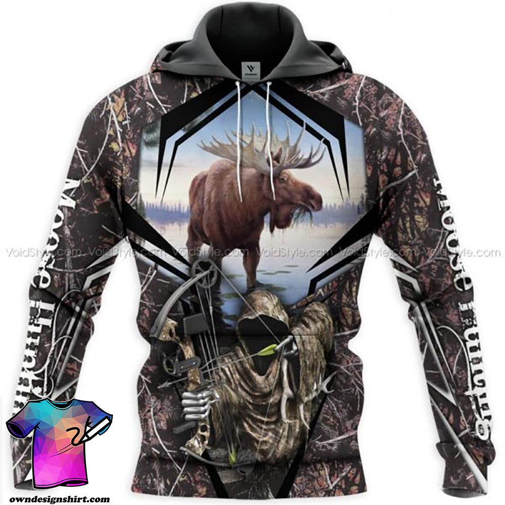 Moose hunting hunt season all over print shirt