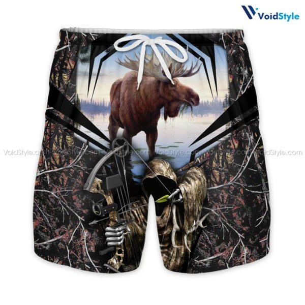 Moose hunting hunt season all over print shorts