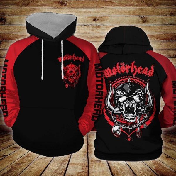 Motorhead logo all over printed hoodie