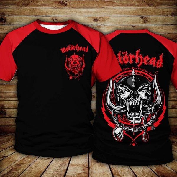 Motorhead logo all over printed tshirt