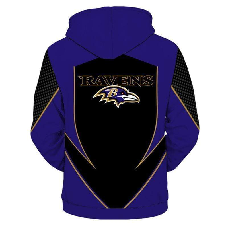 NFL football baltimore ravens full printing hoodie