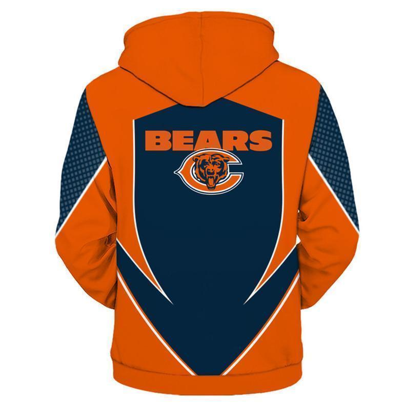 NFL football chicago bears full printing hoodie 1
