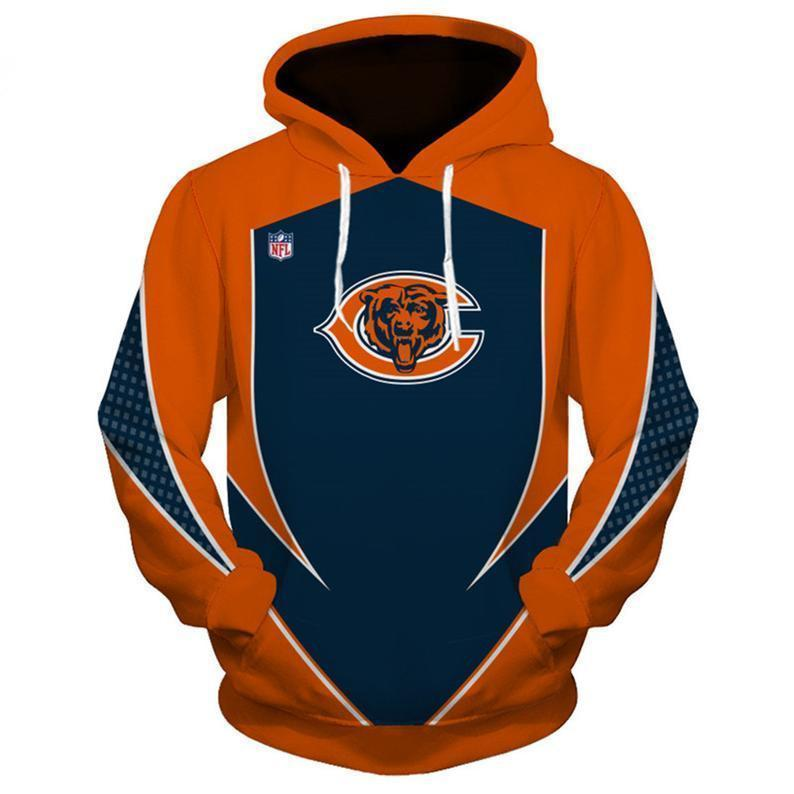 NFL football chicago bears full printing hoodie 2