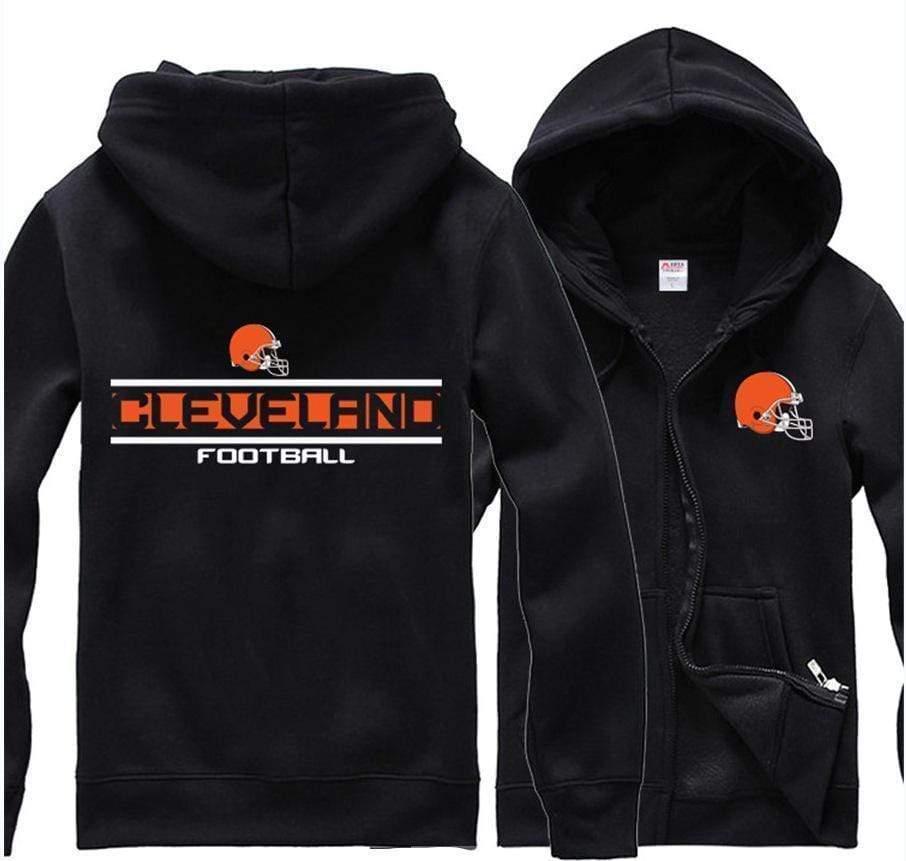 NFL football cleveland browns full printing hoodie