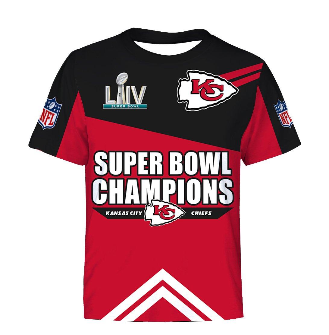 NFL super bowl champions kansas city chiefs all over print tshirt