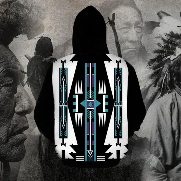 Native american native pattern full printing hoodie 1