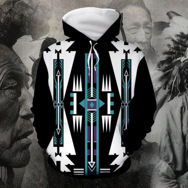 Native american native pattern full printing hoodie