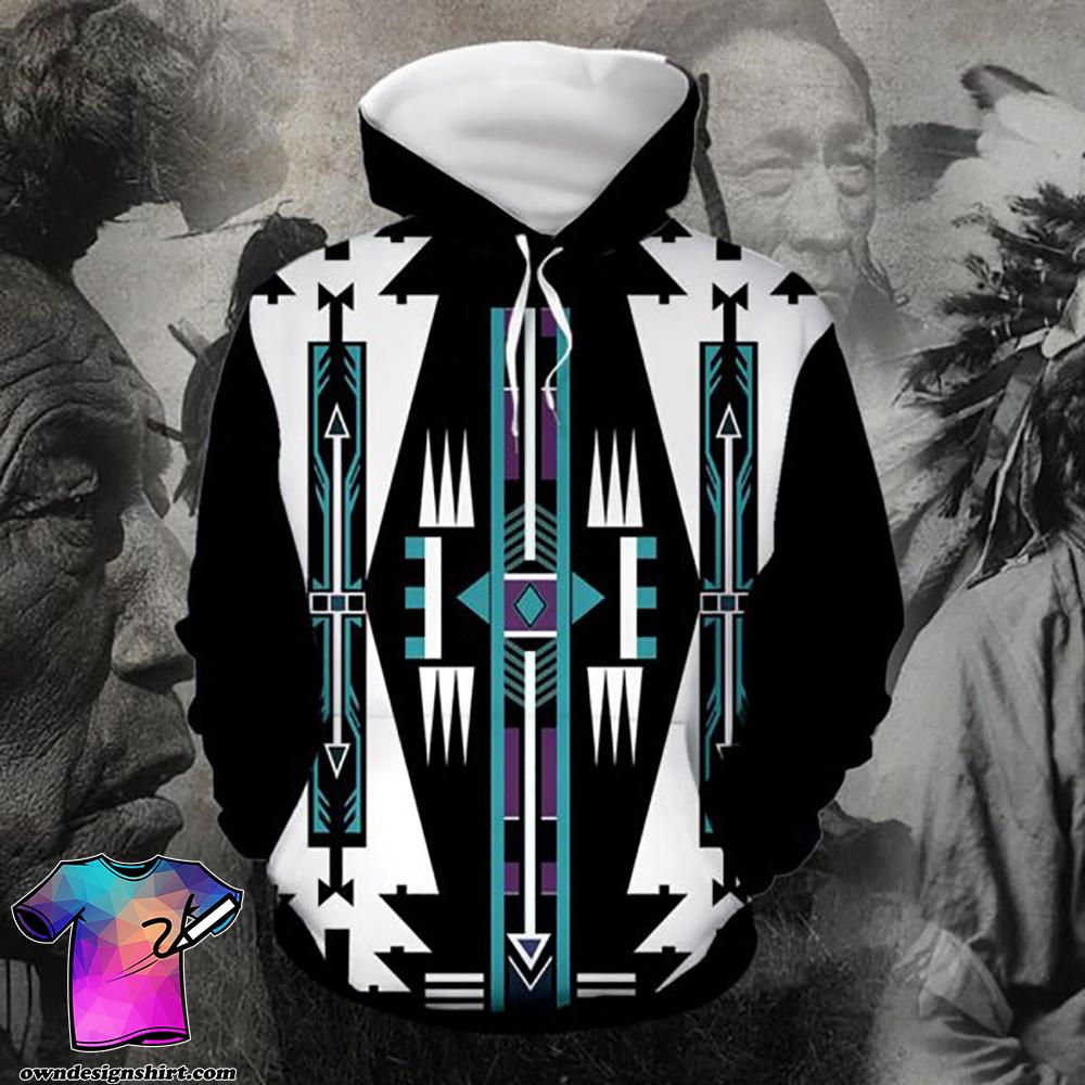Native american native pattern full printing shirt