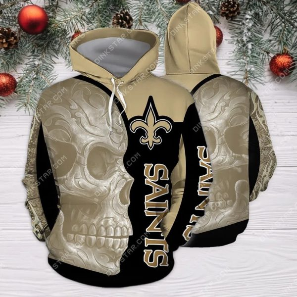 New orleans saints sugar skull all over print hoodie