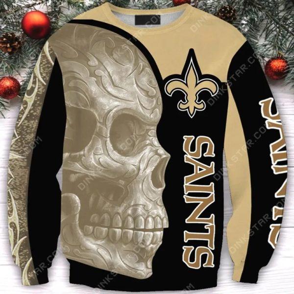 New orleans saints sugar skull all over print sweatshirt