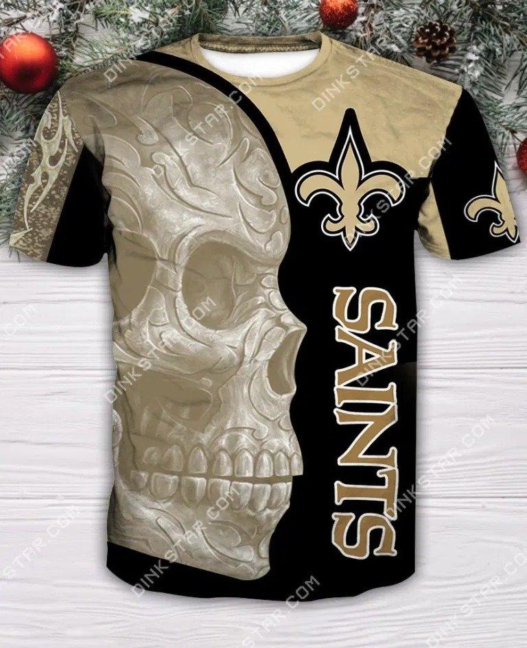 New orleans saints sugar skull all over print tshirt