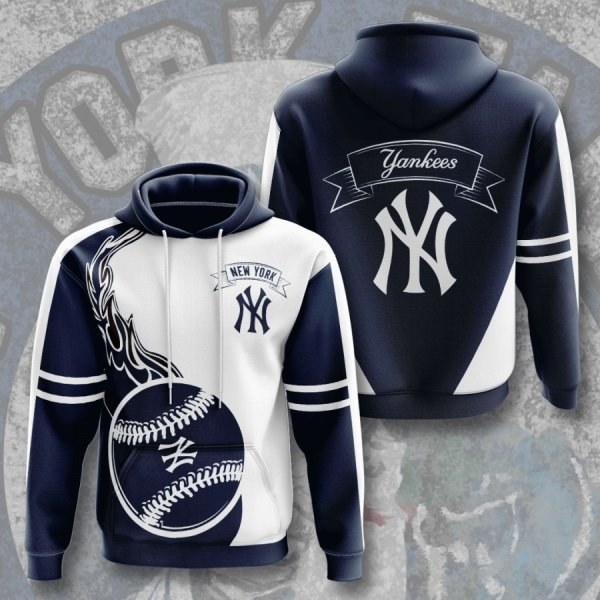 New york yankees mlb full printing hoodie