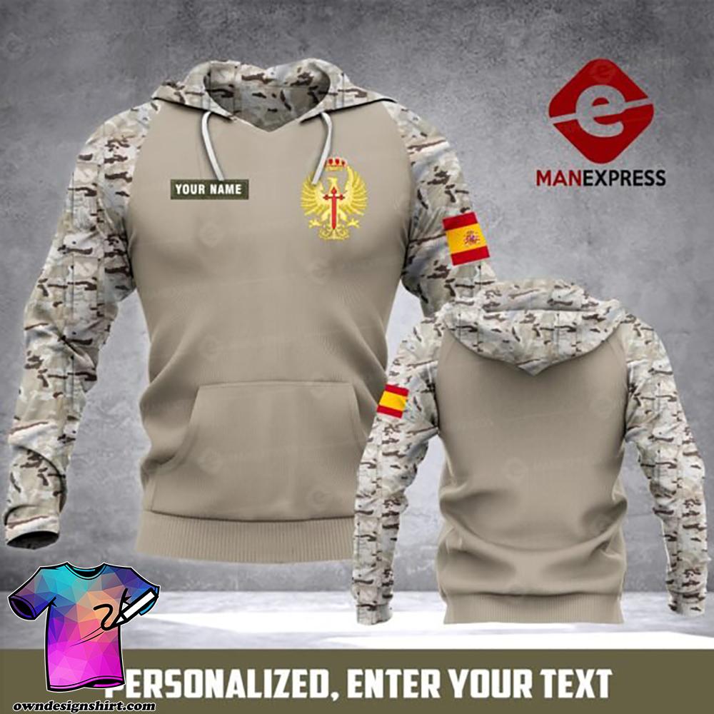 Personalized army spanish full printing shirt
