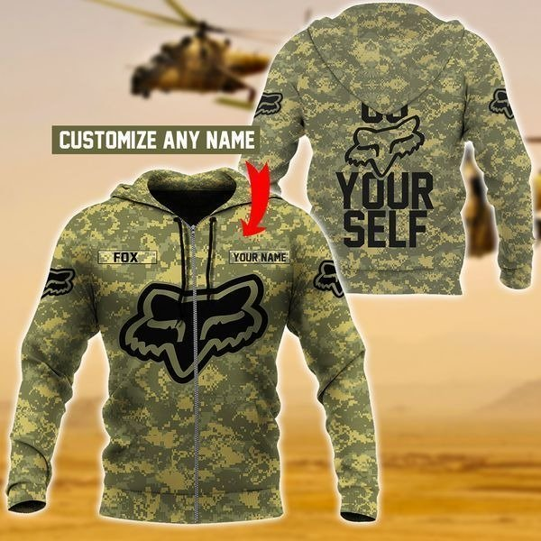 Personalized fox racing go fox yourself camo full printing hoodie