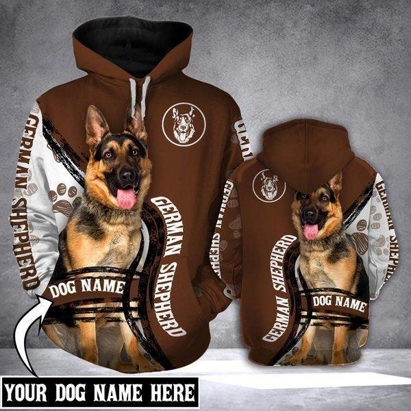 Personalized german shepherd full printing hoodie 1