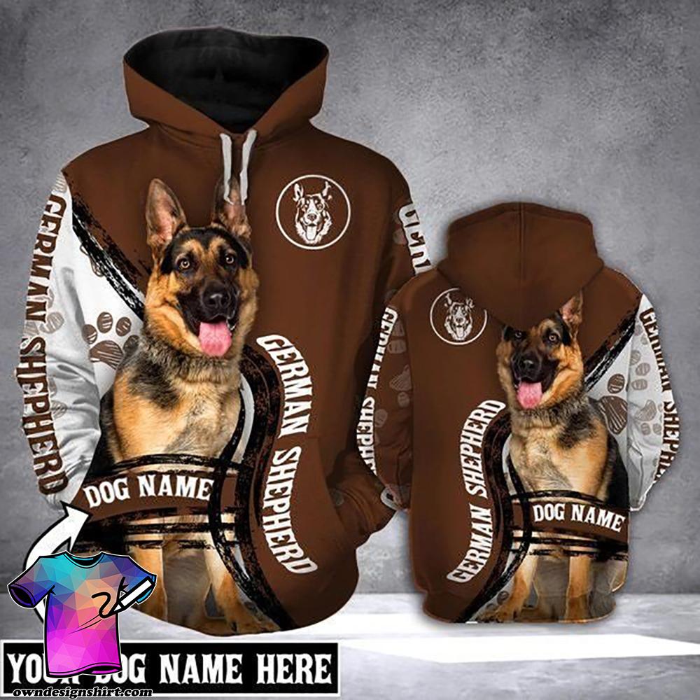 Personalized german shepherd full printing shirt