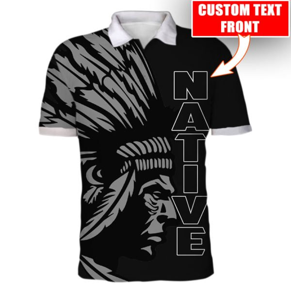 Personalized native american cultures full printing polo