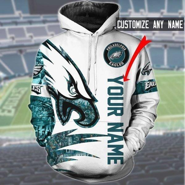 Personalized philadelphia eagles nfl full printing hoodie