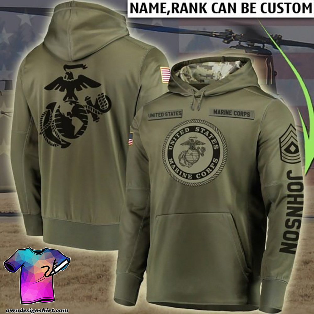 Personalized united states marine corps all over printed shirt