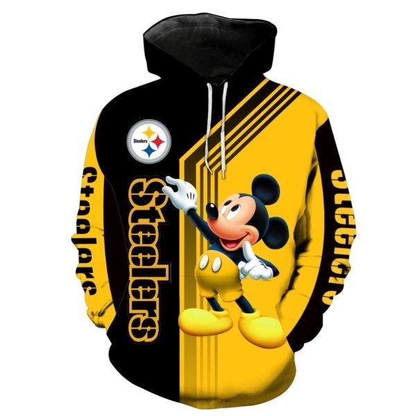 Pittsburgh steelers mickey mouse full printing hoodie