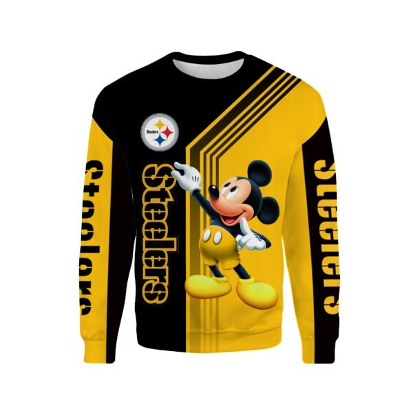 Pittsburgh steelers mickey mouse full printing sweatshirt