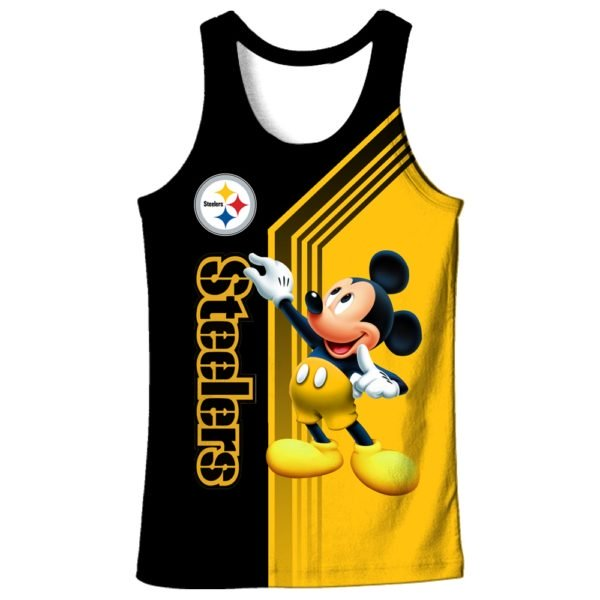 Pittsburgh steelers mickey mouse full printing tank top