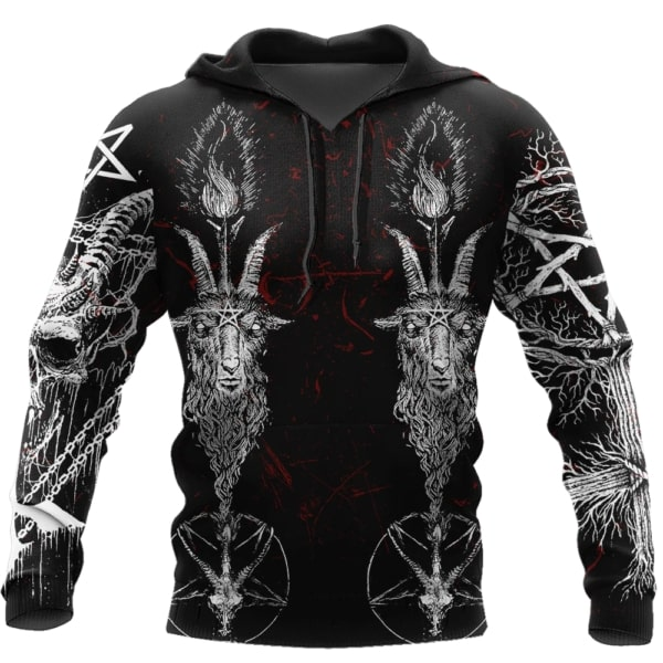 Satanic 3d all over print hoodie
