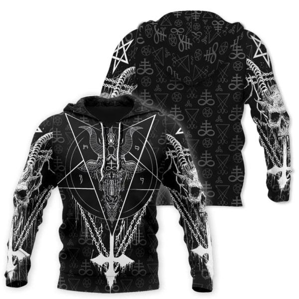 Satanic satan full printing hoodie
