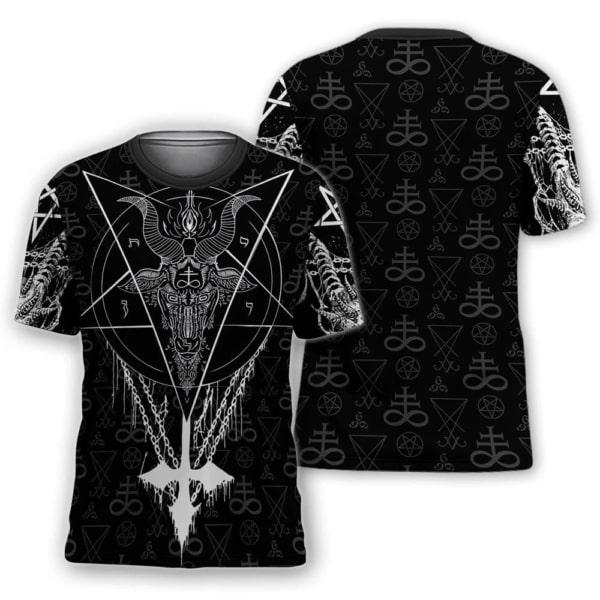Satanic satan full printing tshirt