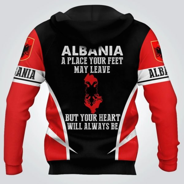 Skull albania a place your feet may leave all over print hoodie 3