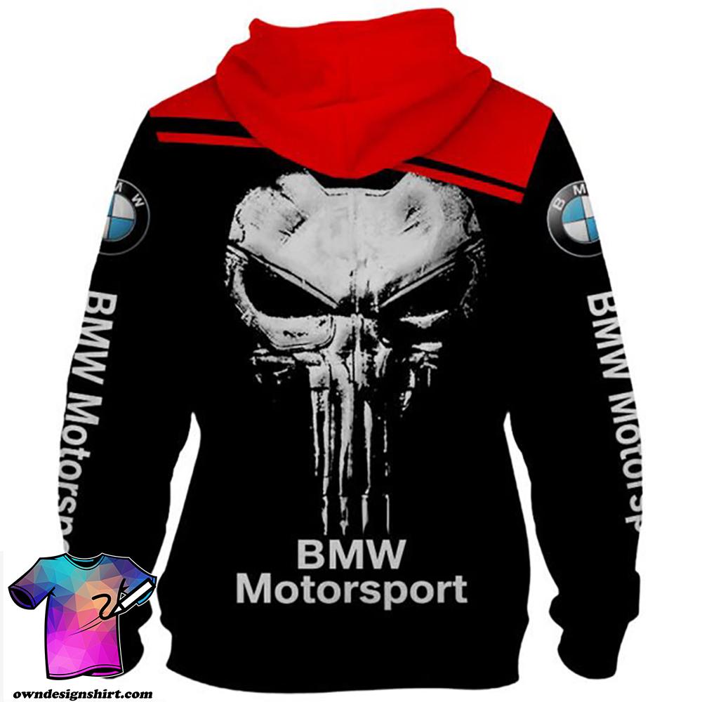 Skull bmw motorsport full printing shirt