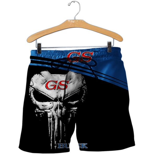 Skull buick gs all over printed shorts