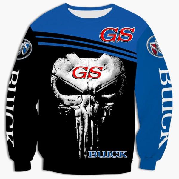 Skull buick gs all over printed sweatshirt