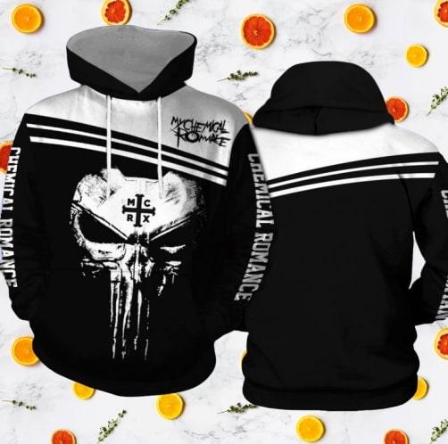 Skull my chemical romance full printing hoodie