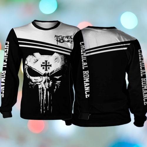 Skull my chemical romance full printing sweatshirt