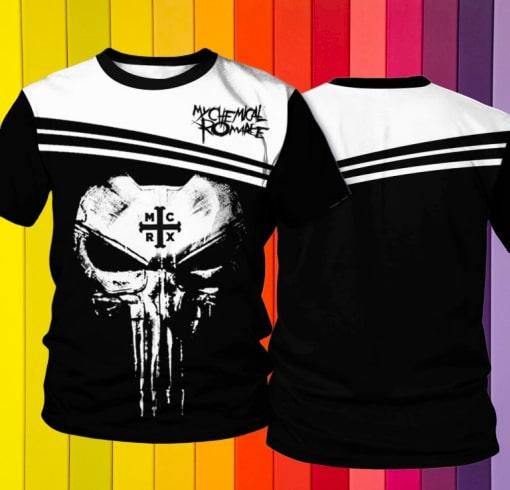 Skull my chemical romance full printing tshirt