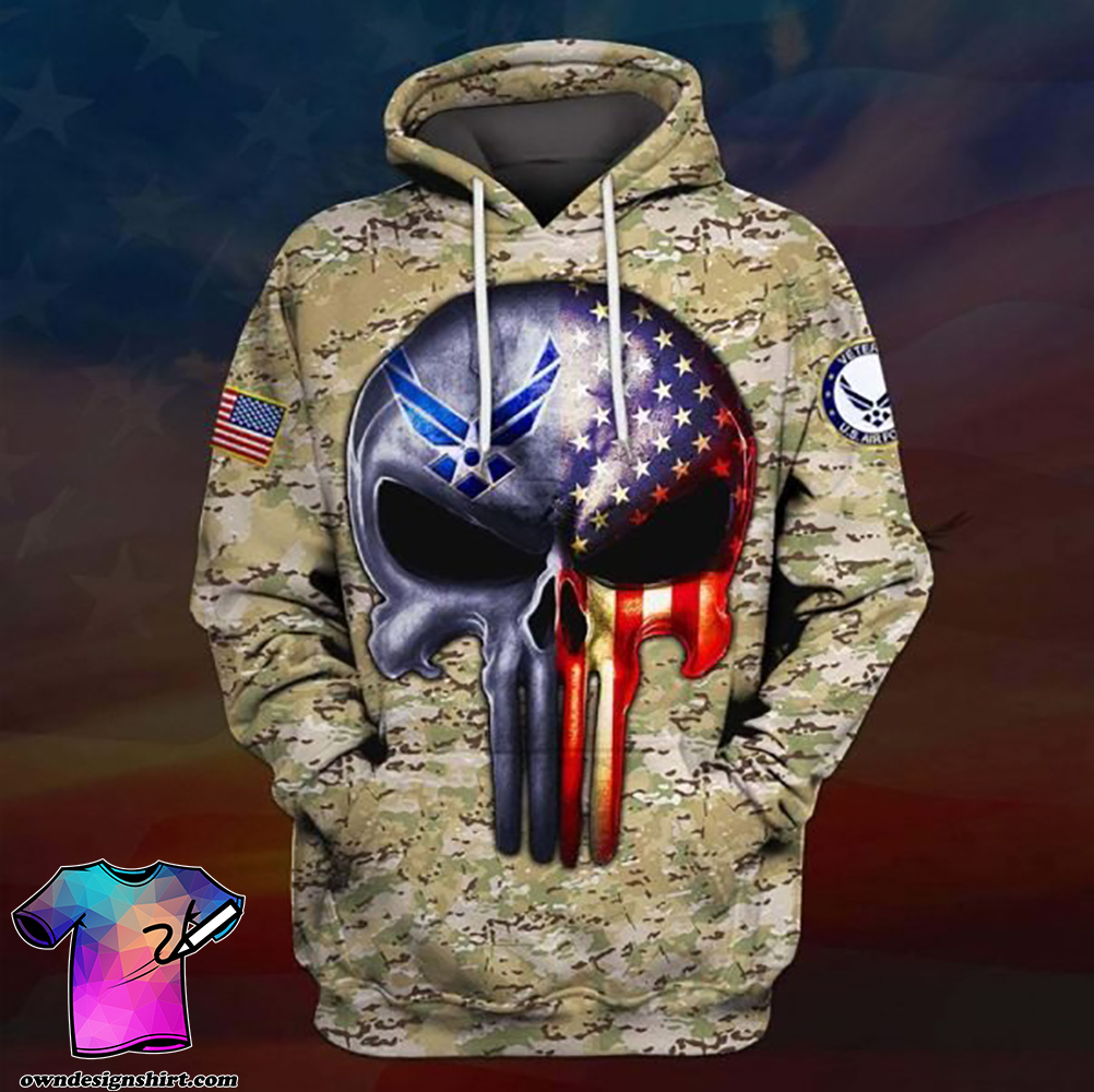 Skull the united states air force full printing shirt