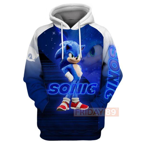 Sonic the hedgehog full printing hoodie