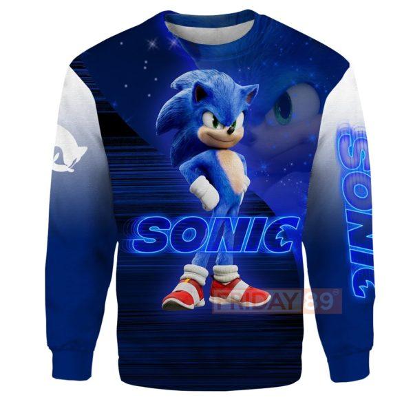 Sonic the hedgehog full printing sweatshirt