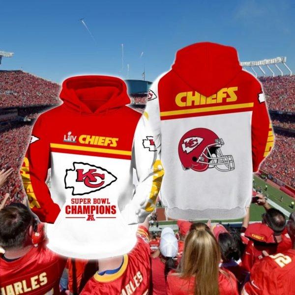 Super bowl champions kansas city chiefs full printing hoodie