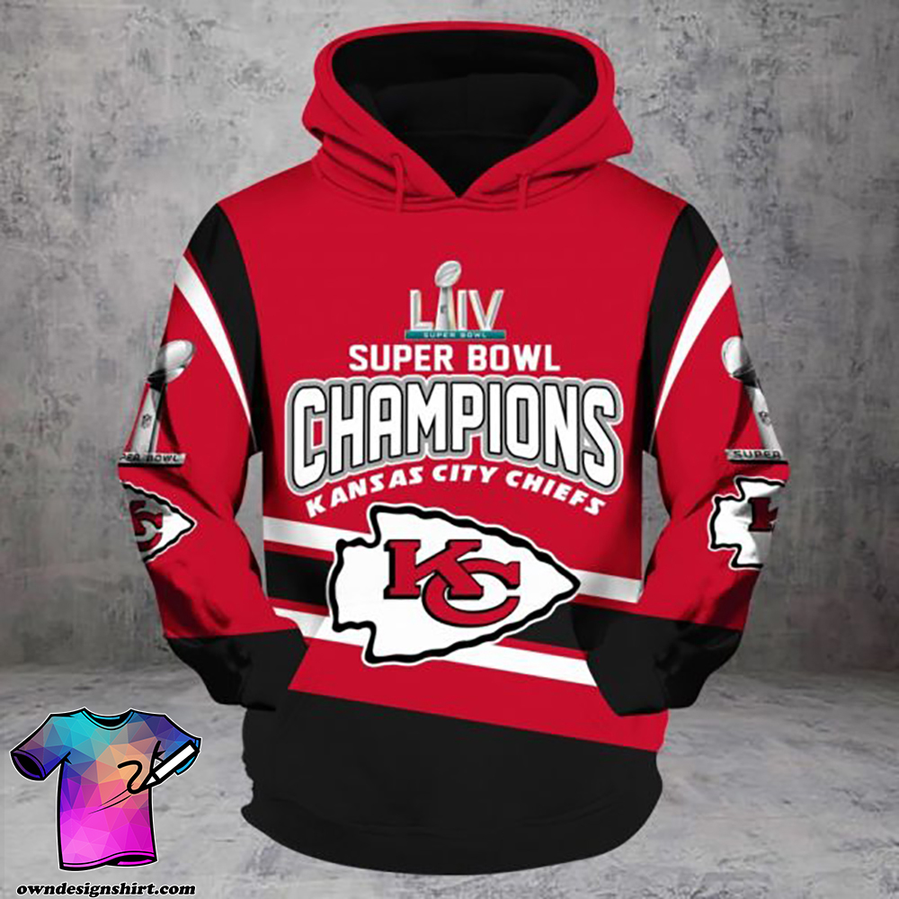 Super bowl iv champion kansas city chiefs full printing shirt