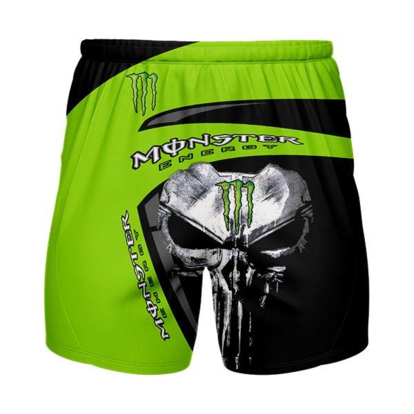 The skull monster energy full printing shorts