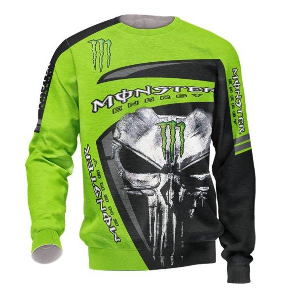 The skull monster energy full printing sweatshirt