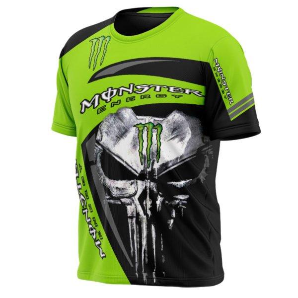 The skull monster energy full printing tshirt