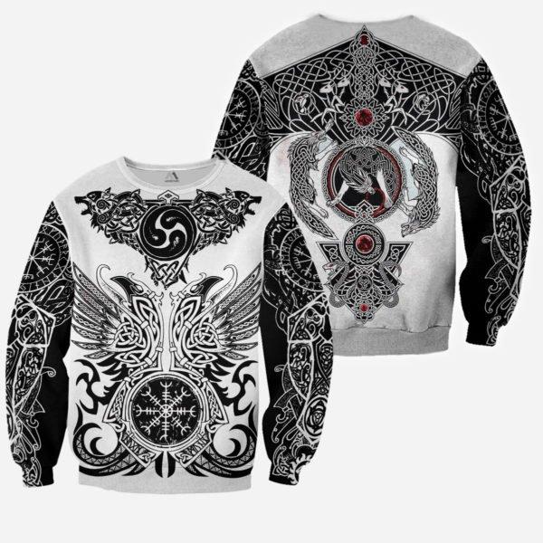The viking tattoo art 3d full printing sweatshirt